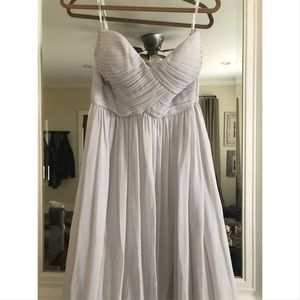 Donna Morgan Light Gray Bridesmaids Dress